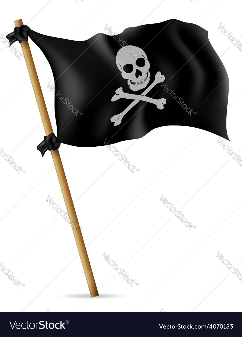 Pirate flag 02 vector | Price: 3 Credit (USD $3)