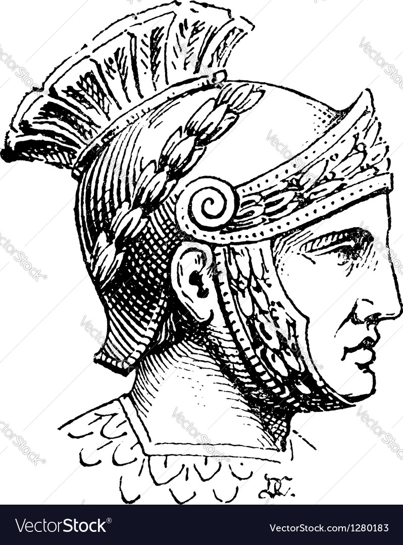 Roman centurion engraving vector | Price: 1 Credit (USD $1)