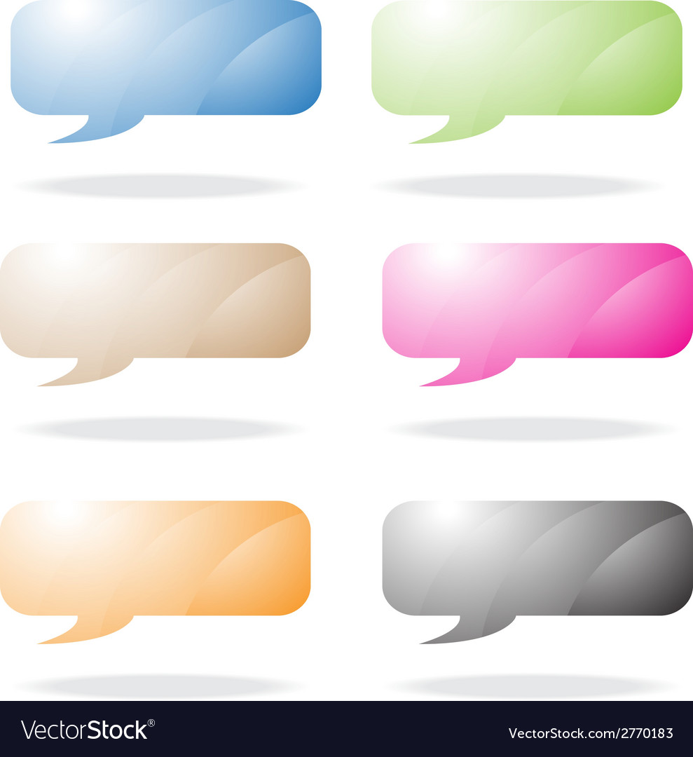 Rounded speech bubble vector | Price: 1 Credit (USD $1)
