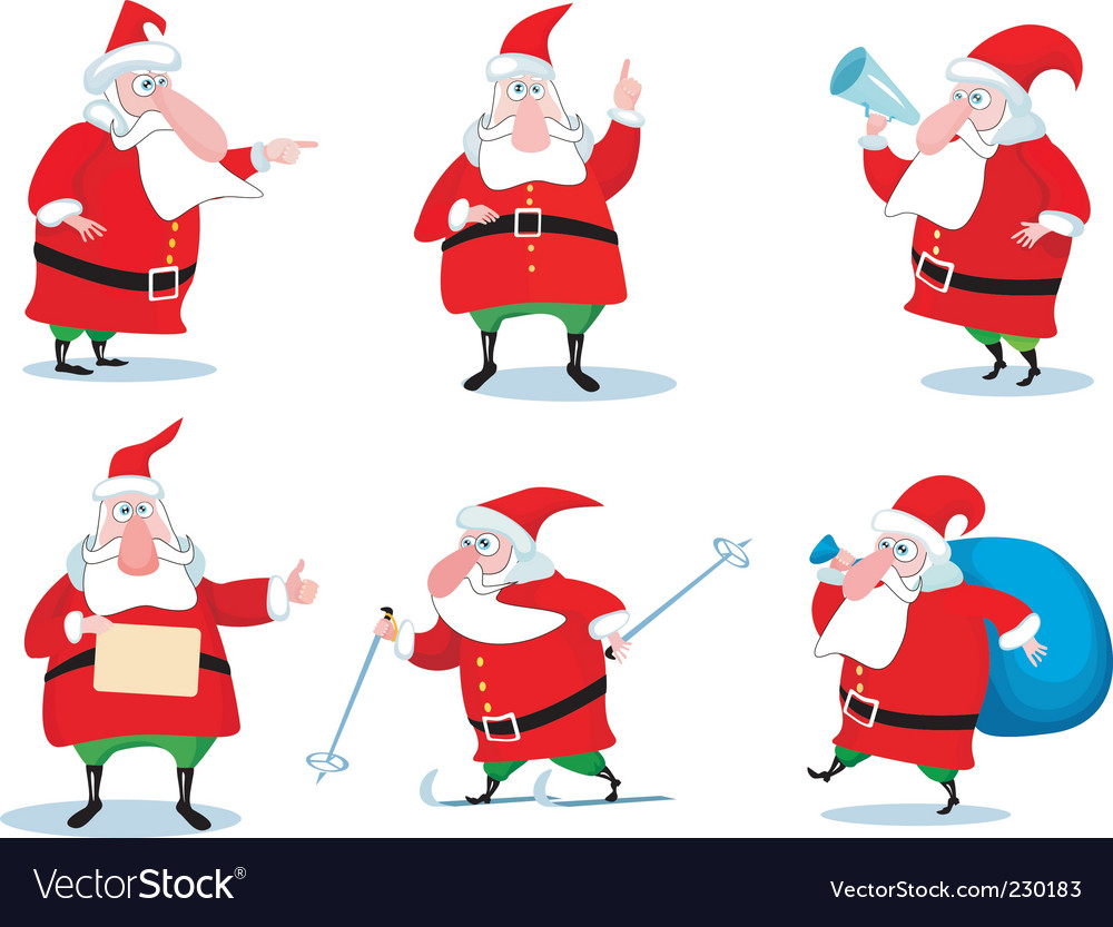 Santa claus set vector | Price: 1 Credit (USD $1)