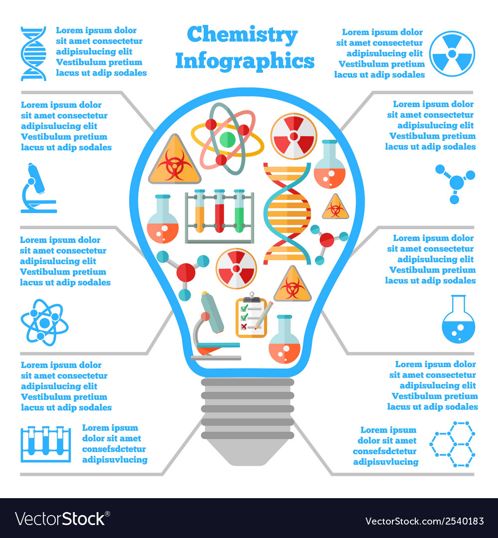 Science chemical colorful infographcis vector | Price: 1 Credit (USD $1)