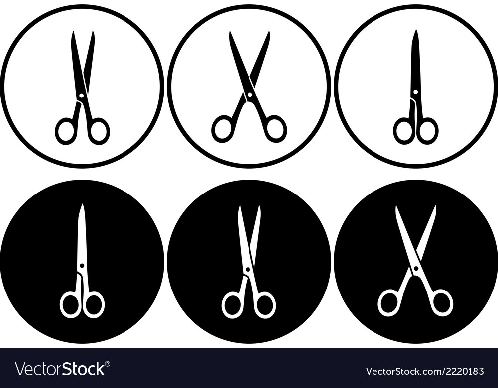 Scissors set in frame vector | Price: 1 Credit (USD $1)