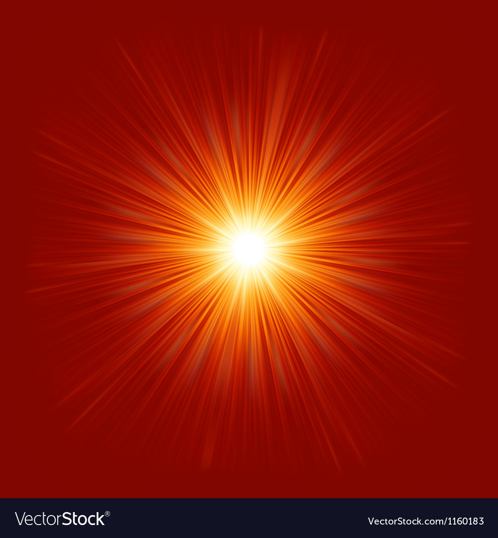 Star burst red and yellow fire eps 8 vector | Price: 1 Credit (USD $1)