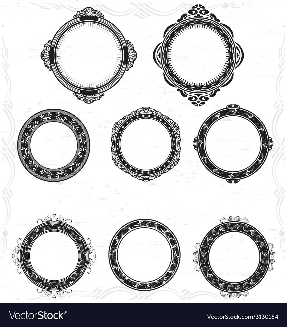 Artistic circular frame vector | Price: 1 Credit (USD $1)
