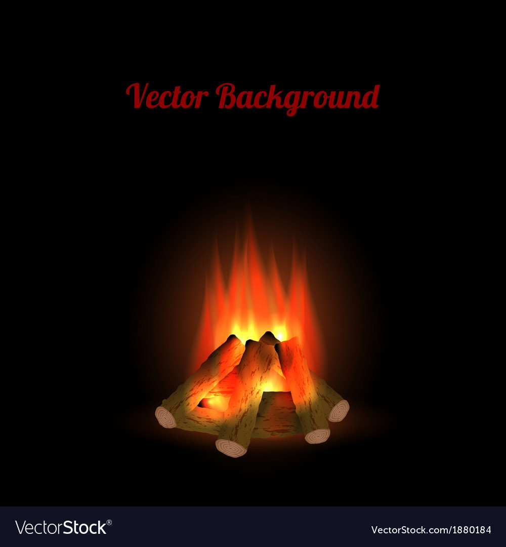 Bonfire background vector | Price: 1 Credit (USD $1)