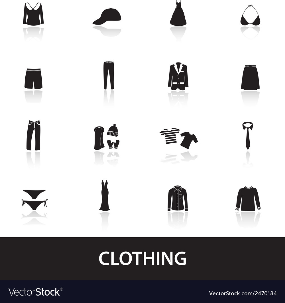 Clothing icons eps10 vector | Price: 1 Credit (USD $1)