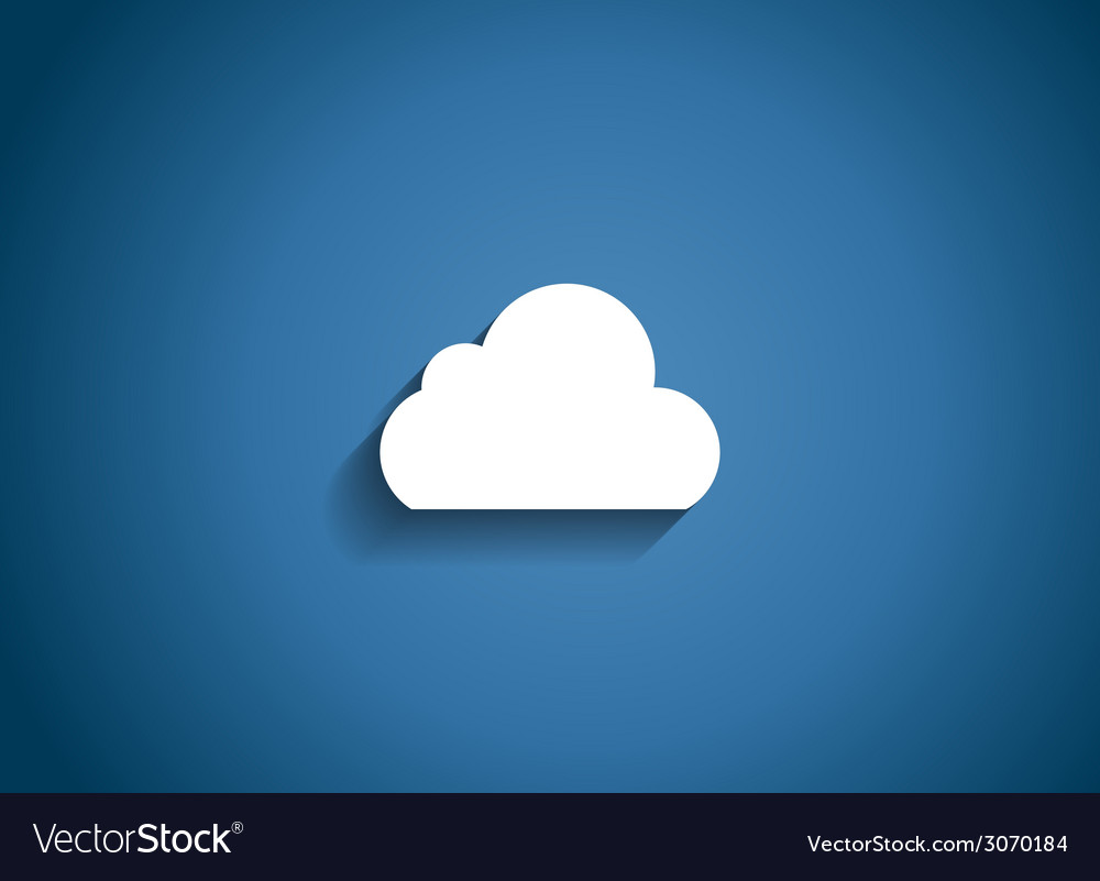 Cloud glossy icon vector | Price: 1 Credit (USD $1)