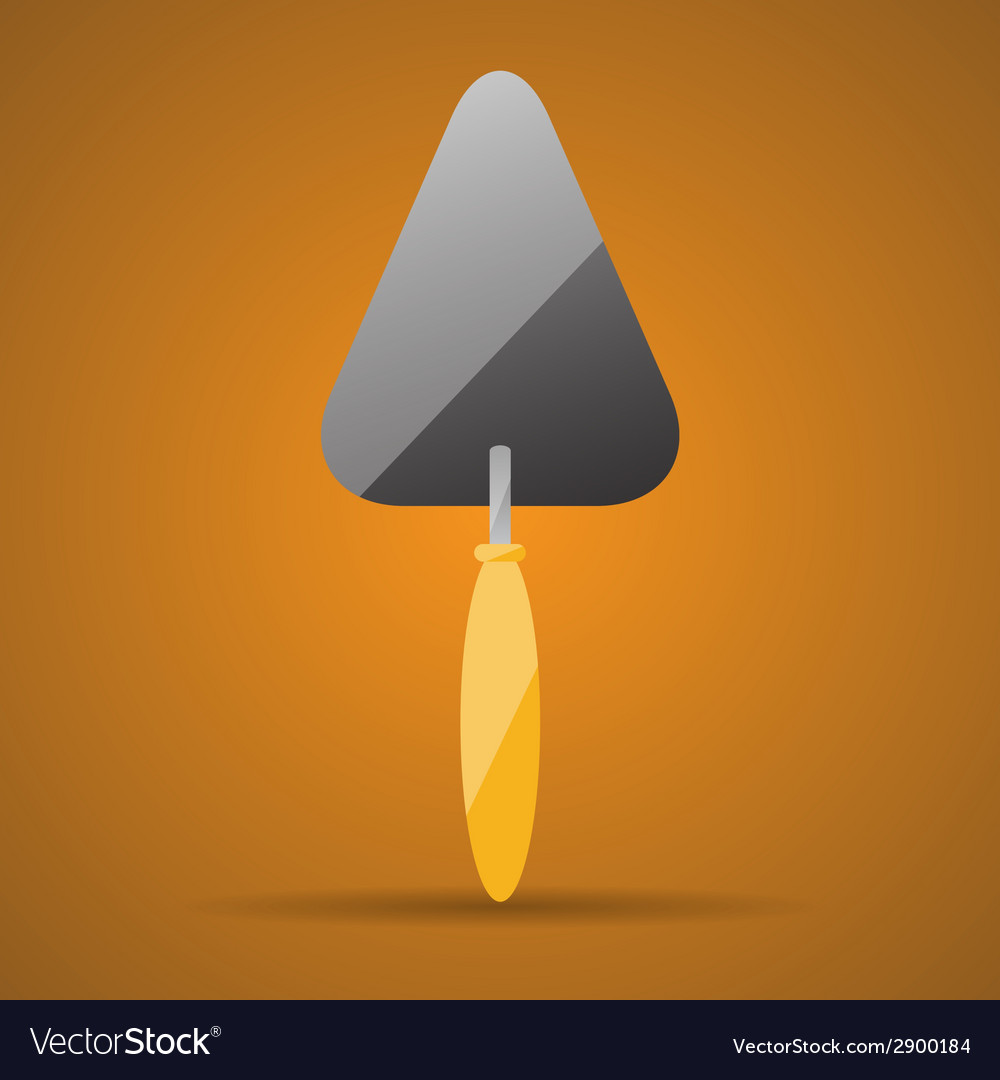 Flat trowel vector | Price: 1 Credit (USD $1)