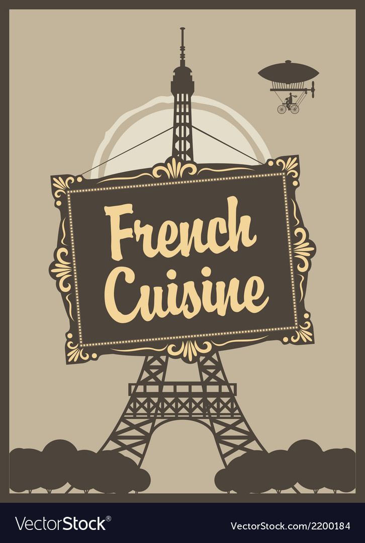French cuisine vector | Price: 1 Credit (USD $1)