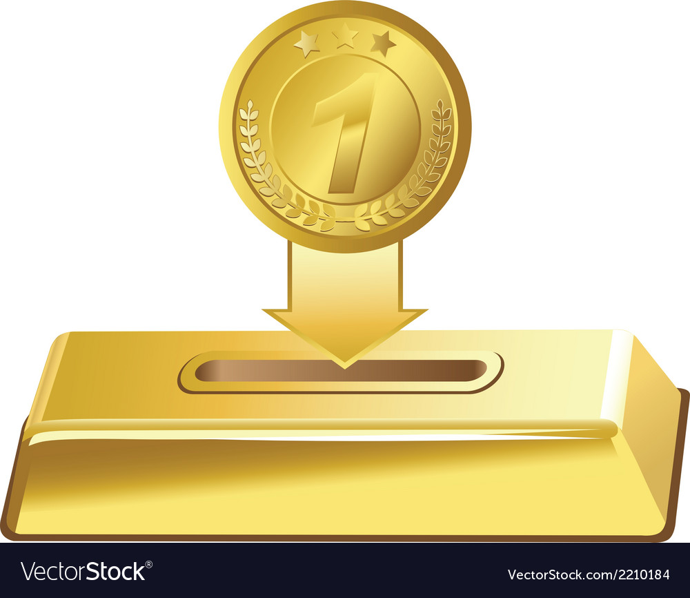 Gold button vector | Price: 1 Credit (USD $1)