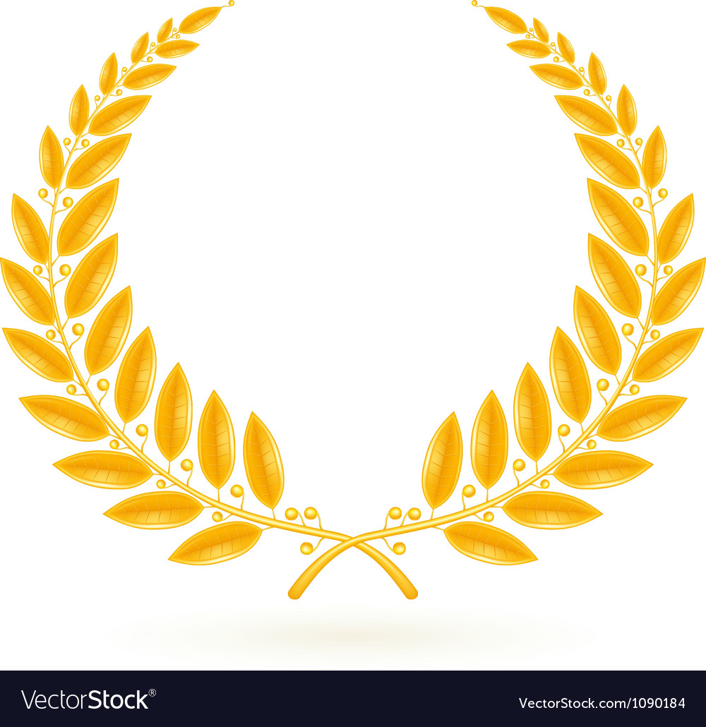 Gold laurel wreath vector | Price: 1 Credit (USD $1)