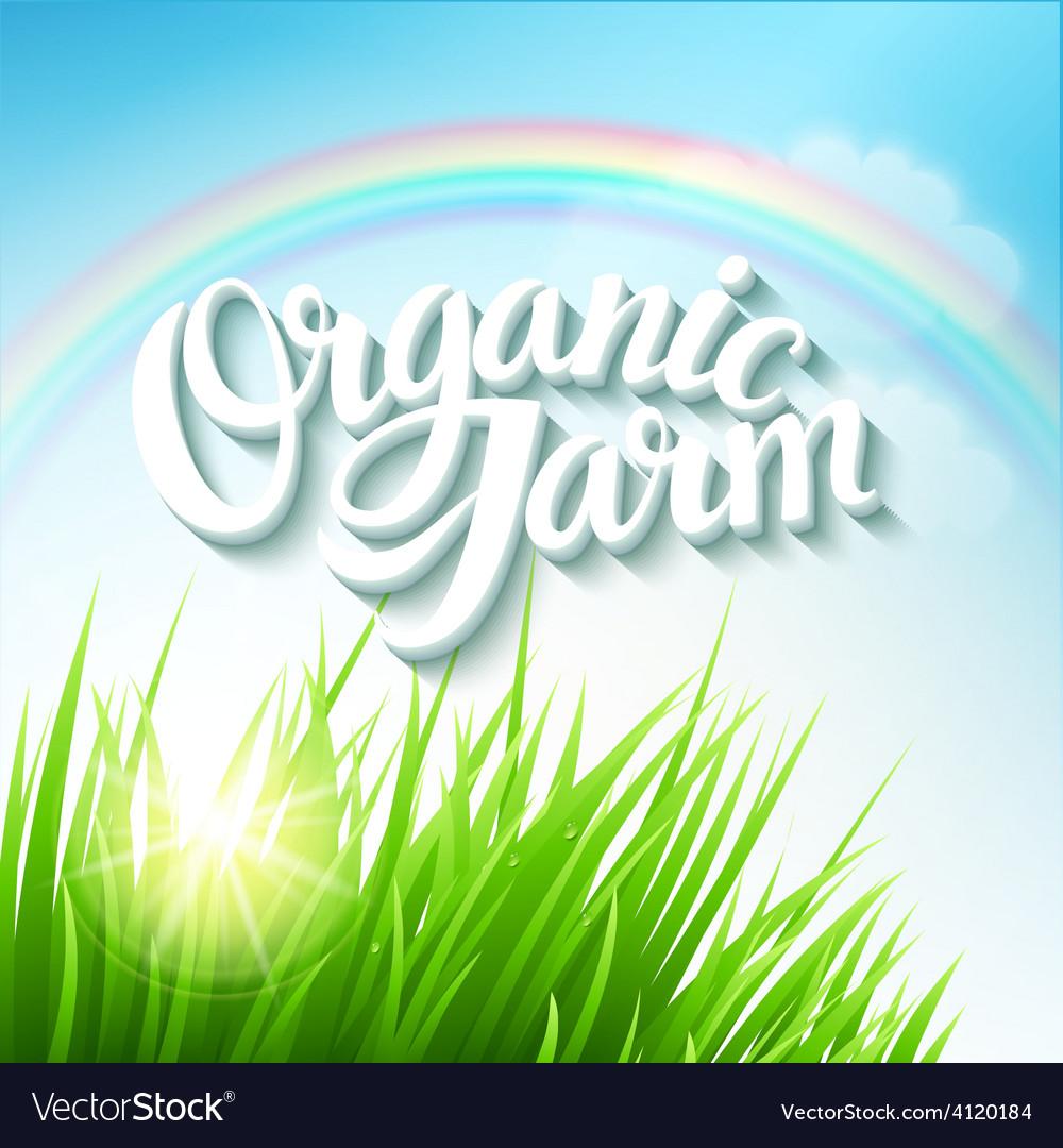 Organic farm logo vector | Price: 3 Credit (USD $3)