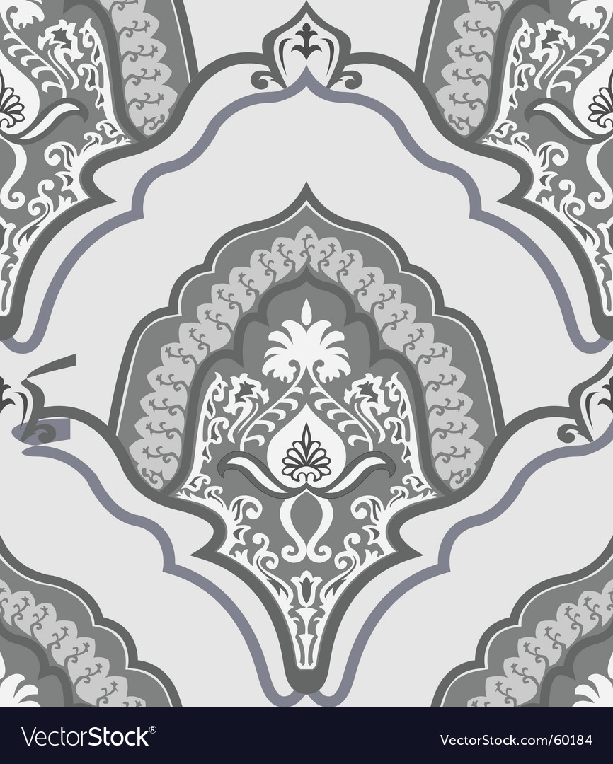 Retro seamless wallpaper vector | Price: 1 Credit (USD $1)