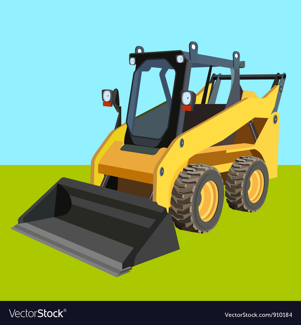 Skid loader industry background vector | Price: 1 Credit (USD $1)