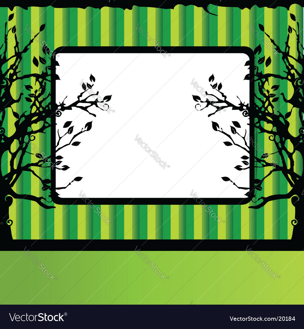 Tree silhouette frame vector | Price: 1 Credit (USD $1)