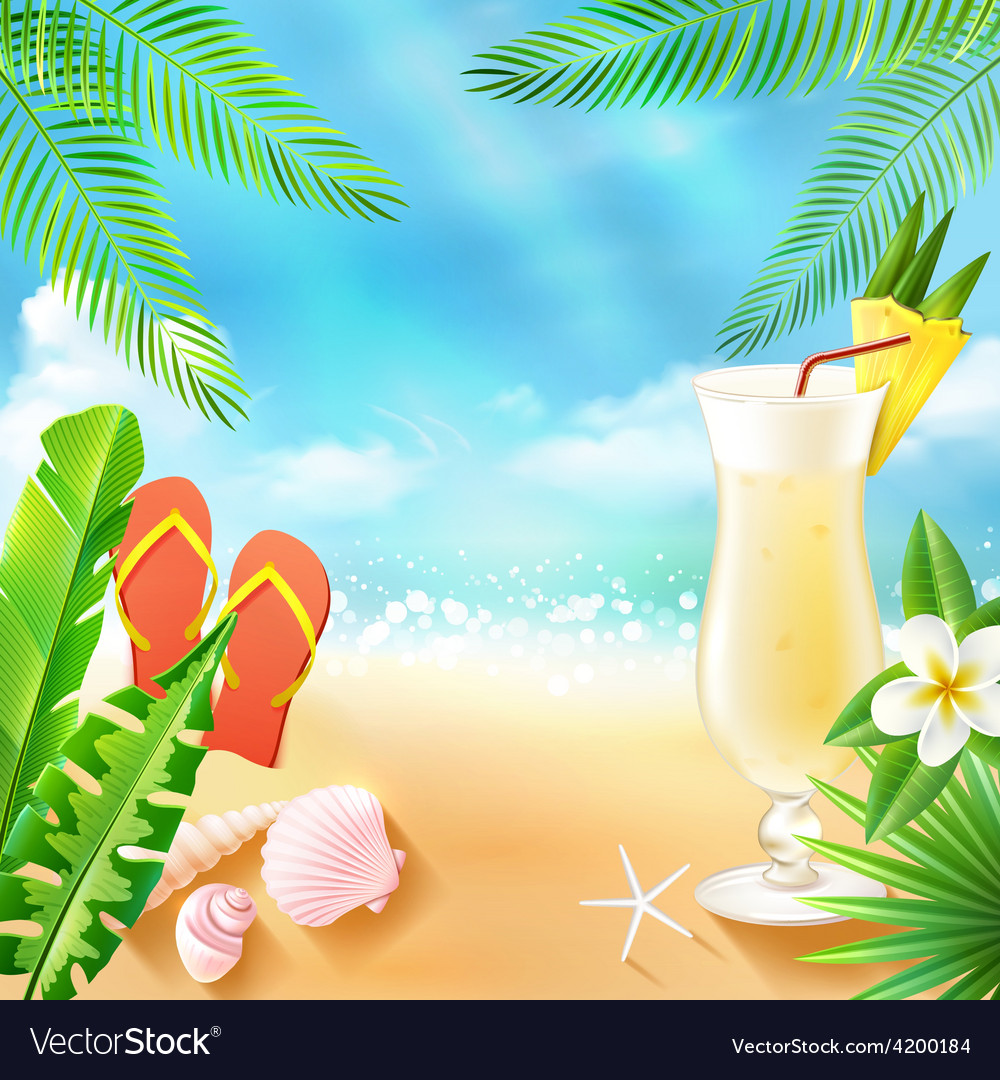 Tropical sea background vector | Price: 1 Credit (USD $1)