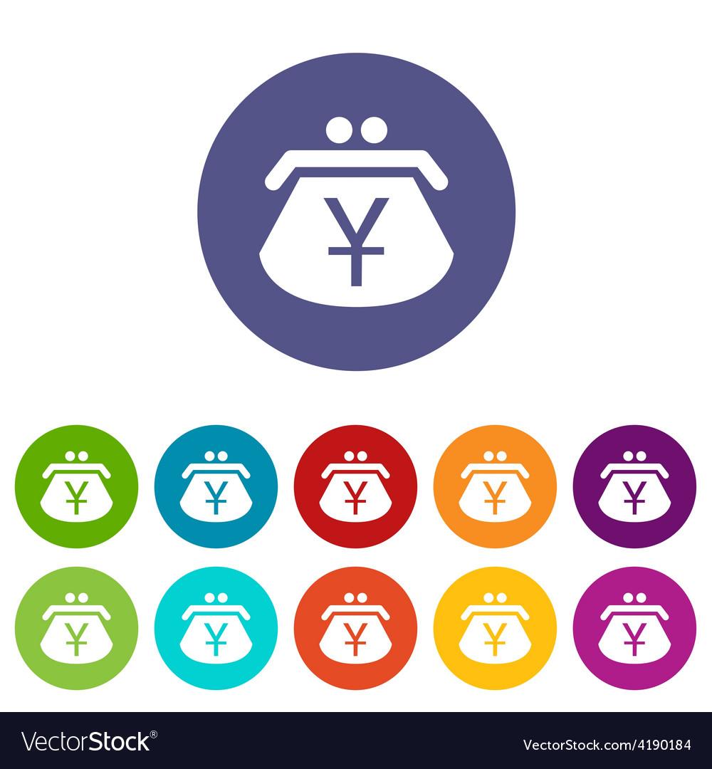 Yen purse flat icon vector | Price: 1 Credit (USD $1)