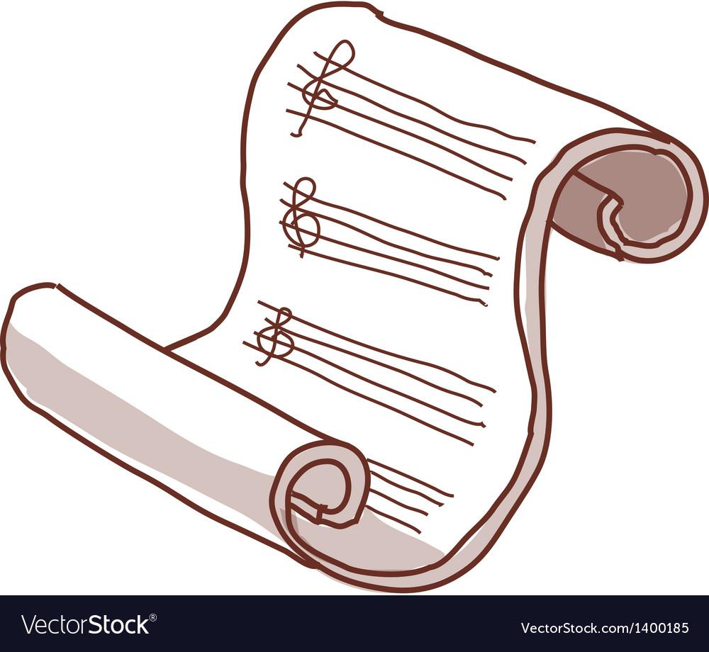 A manuscript paper vector
