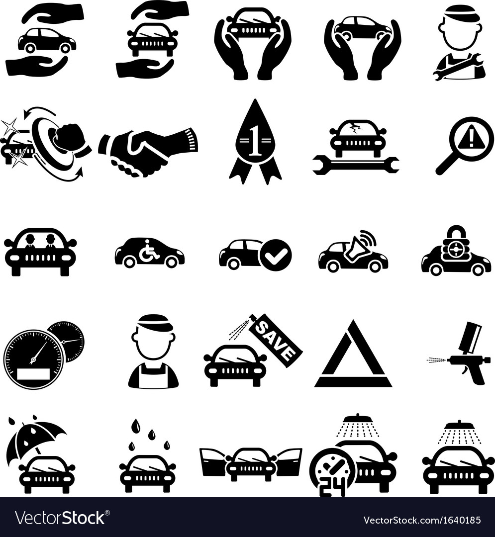 Auto repair icons vector | Price: 1 Credit (USD $1)
