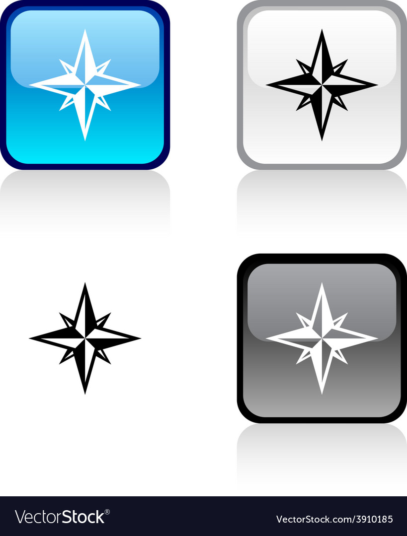 Compass button vector   Price: 1 Credit (USD $1)