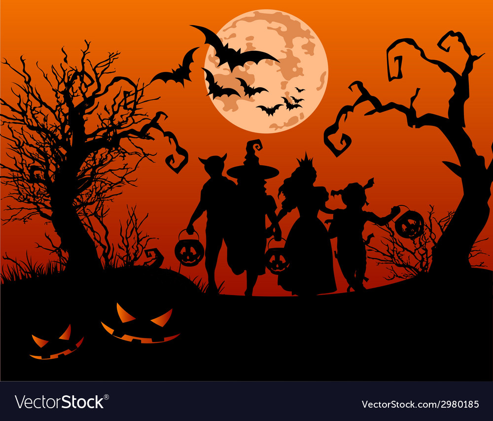 Halloween children vector | Price: 1 Credit (USD $1)