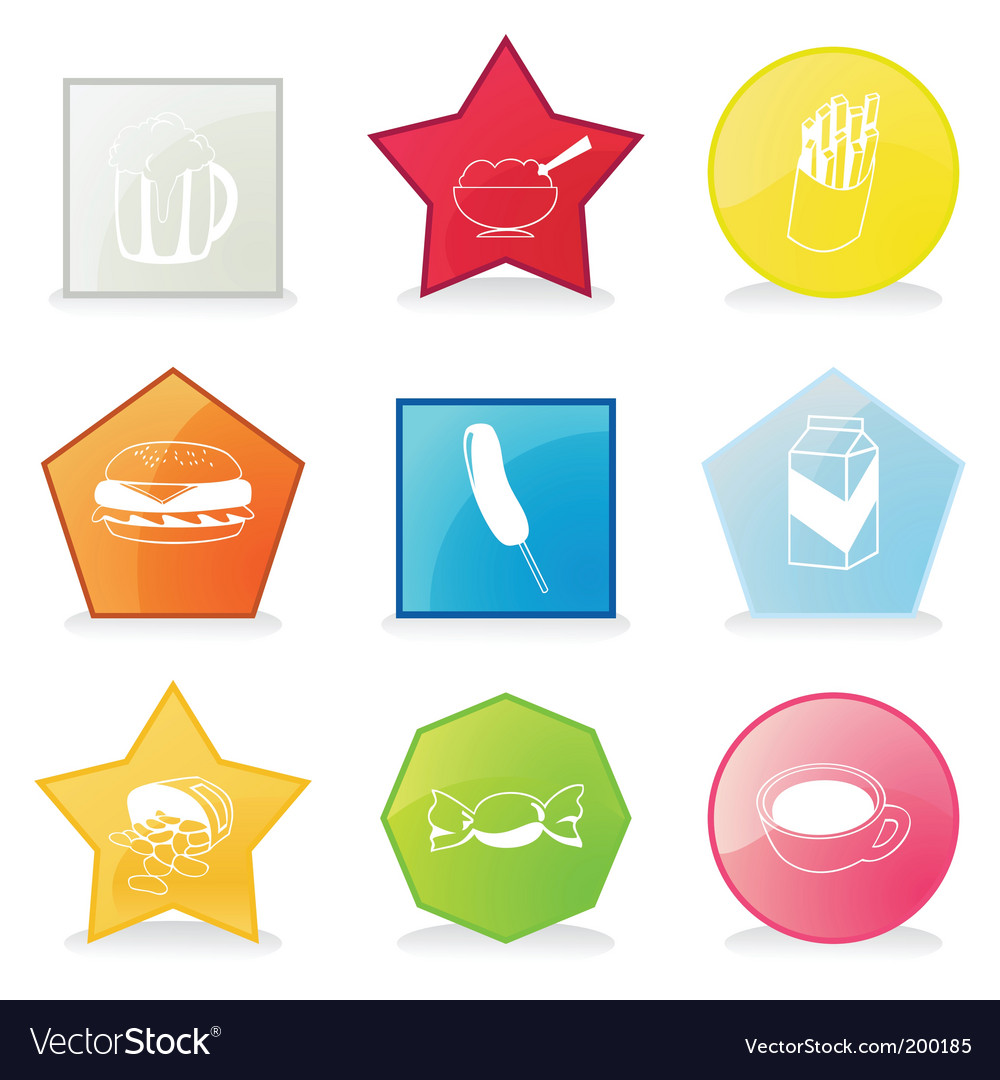 Meal buttons vector | Price: 1 Credit (USD $1)