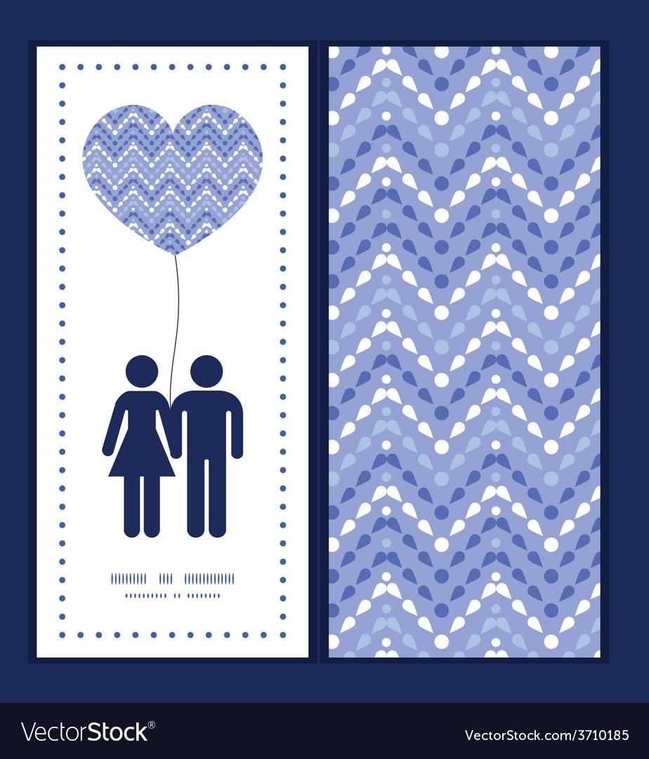 Purple drops chevron couple in love vector | Price: 1 Credit (USD $1)