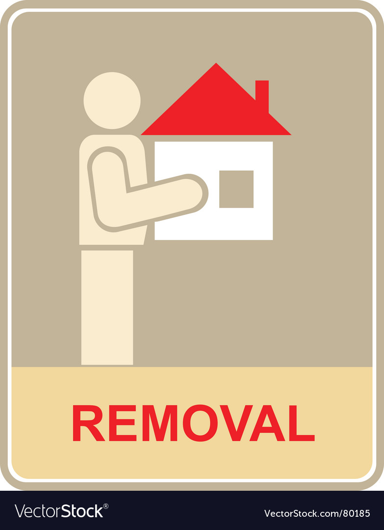 Removal sign vector | Price: 1 Credit (USD $1)