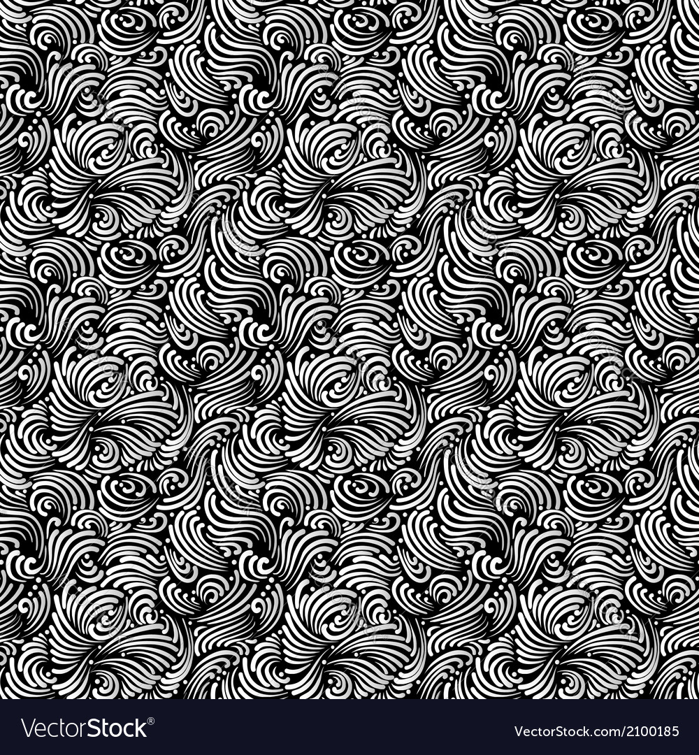 Seamless black and white background vector | Price: 1 Credit (USD $1)