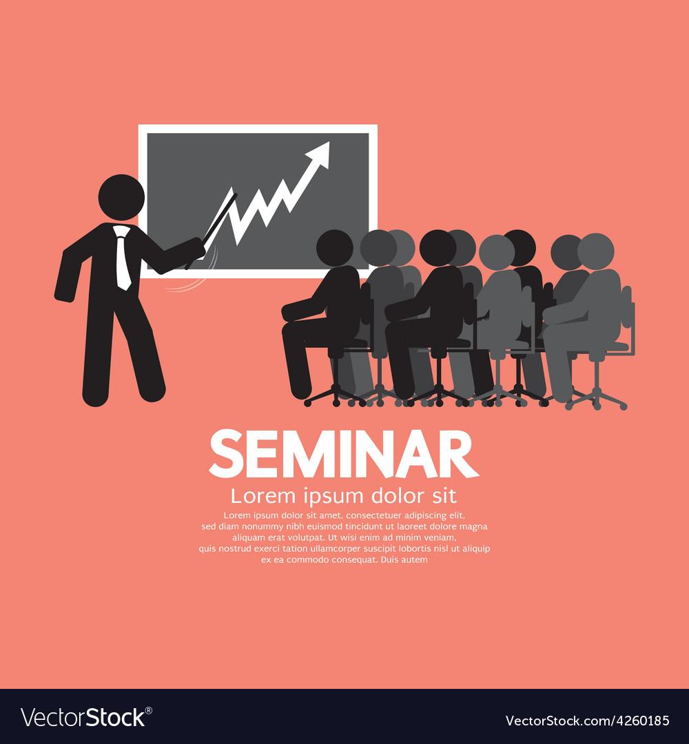 Speaker with audiences in seminar vector | Price: 1 Credit (USD $1)