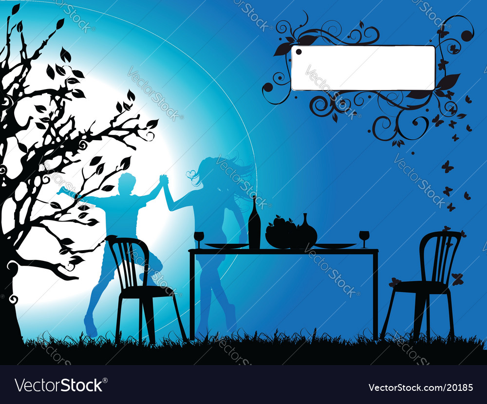Tree silhouette celebrate vector | Price: 1 Credit (USD $1)