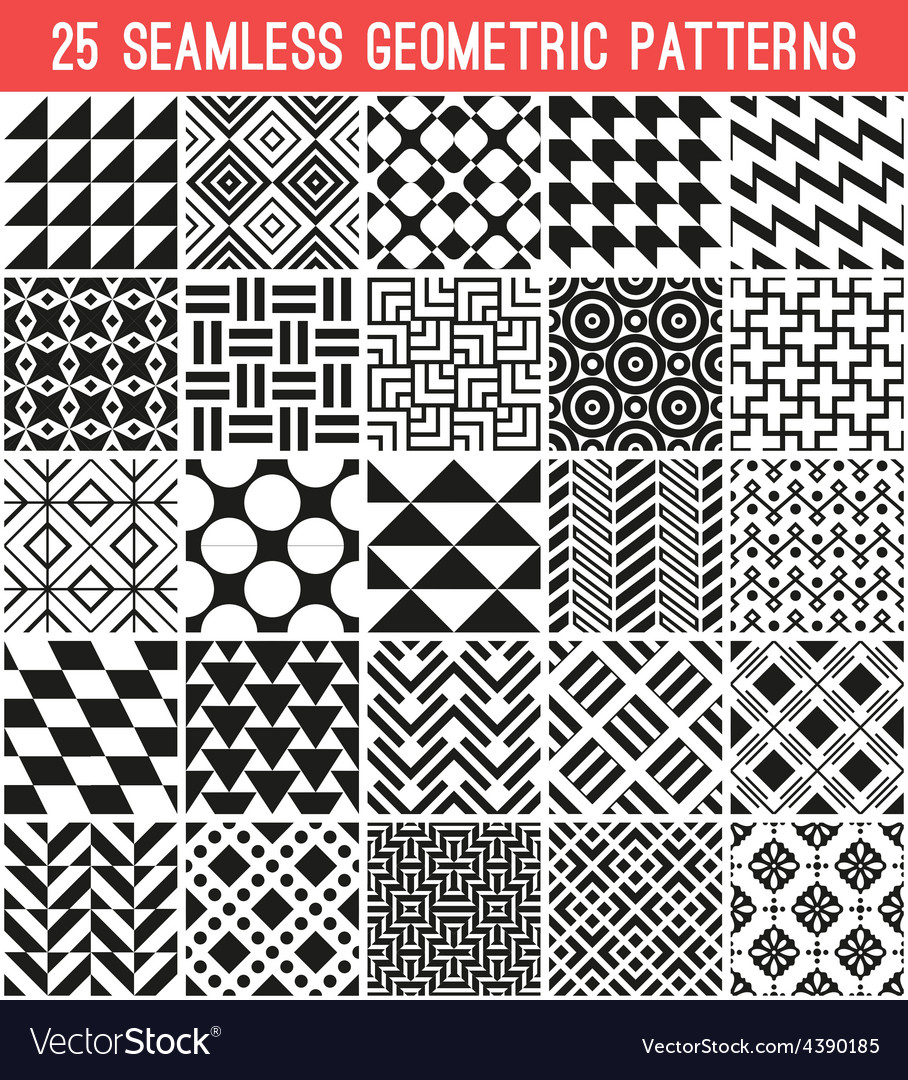 Universal different seamless patterns vector