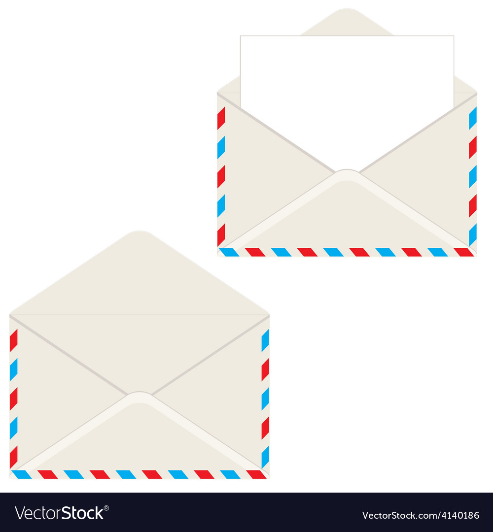 Open envelope with letter vector | Price: 1 Credit (USD $1)