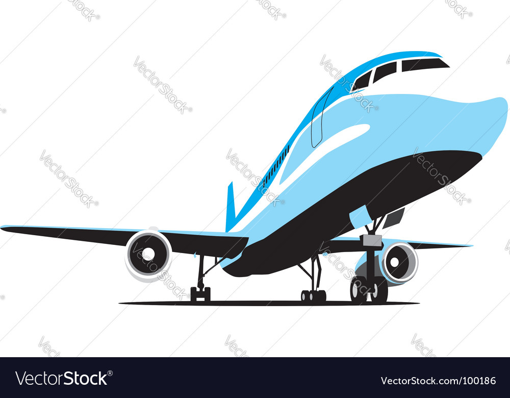Passenger airplane vector | Price: 1 Credit (USD $1)