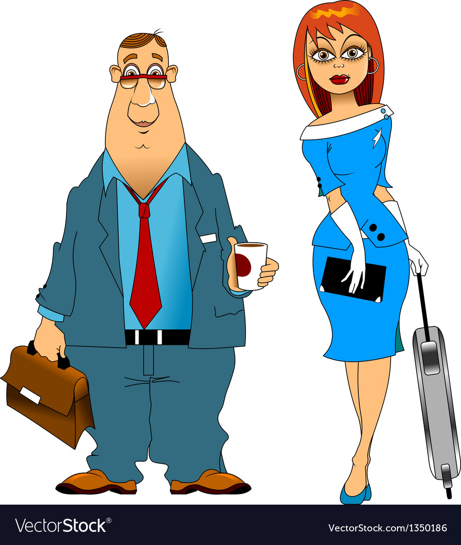 Pilot and stewardess vector | Price: 1 Credit (USD $1)