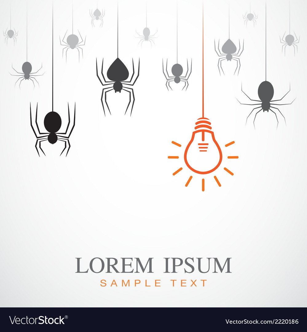 Spider and lamp vector | Price: 1 Credit (USD $1)