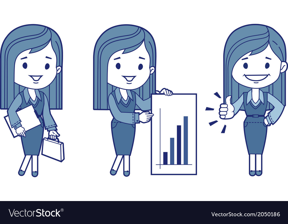 Three characters business women vector | Price: 1 Credit (USD $1)