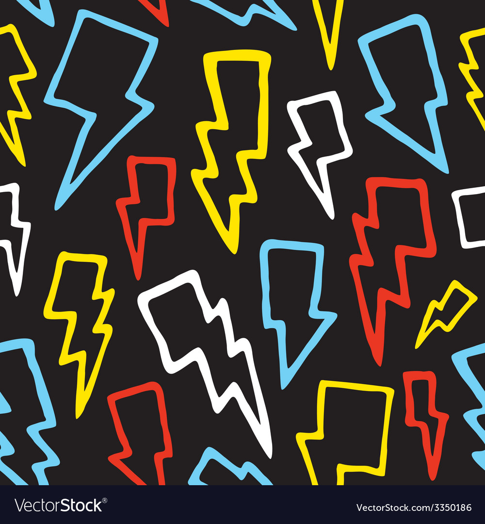 Thunder bolts seamless pattern vector | Price: 1 Credit (USD $1)