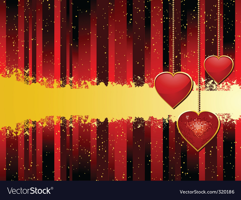 Valentine heart pendant background vector | Price: 1 Credit (USD $1)