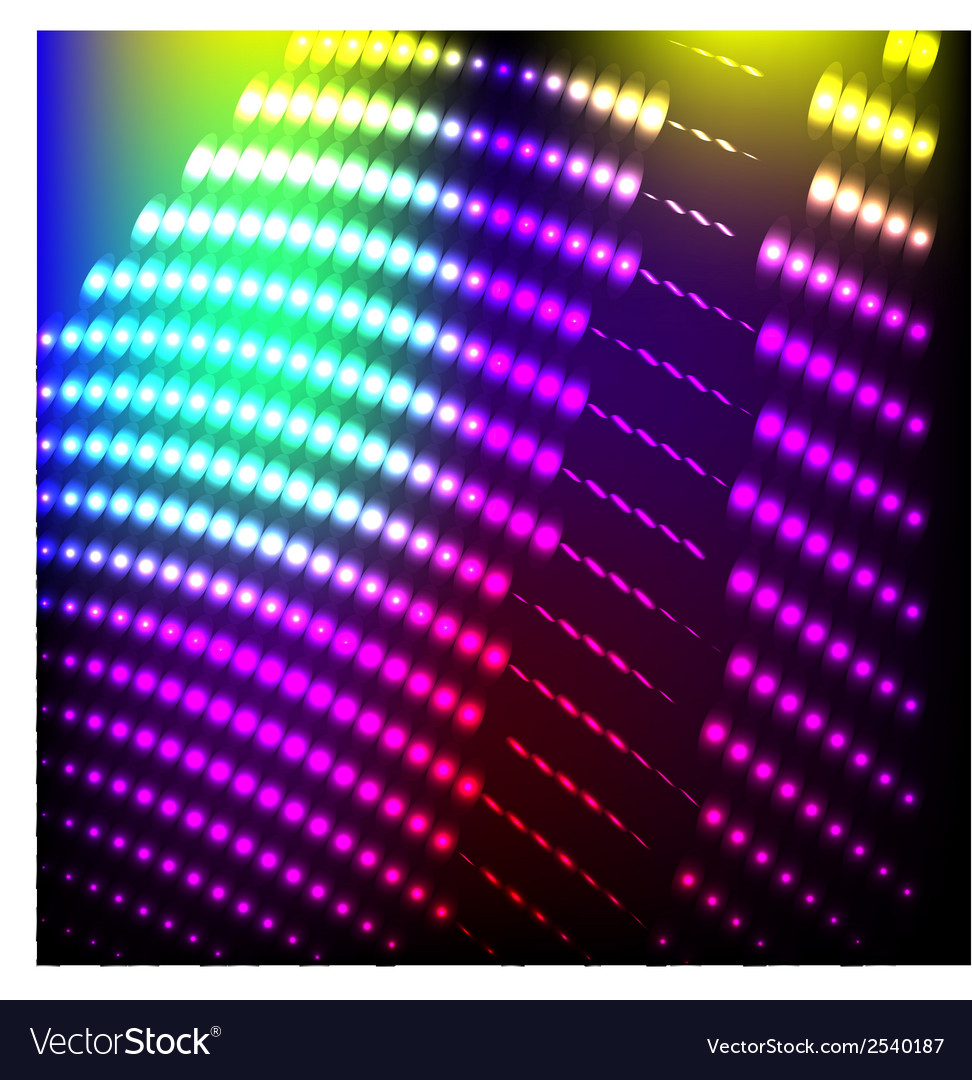 Abstract background colorful lights on black vector | Price: 1 Credit (USD $1)