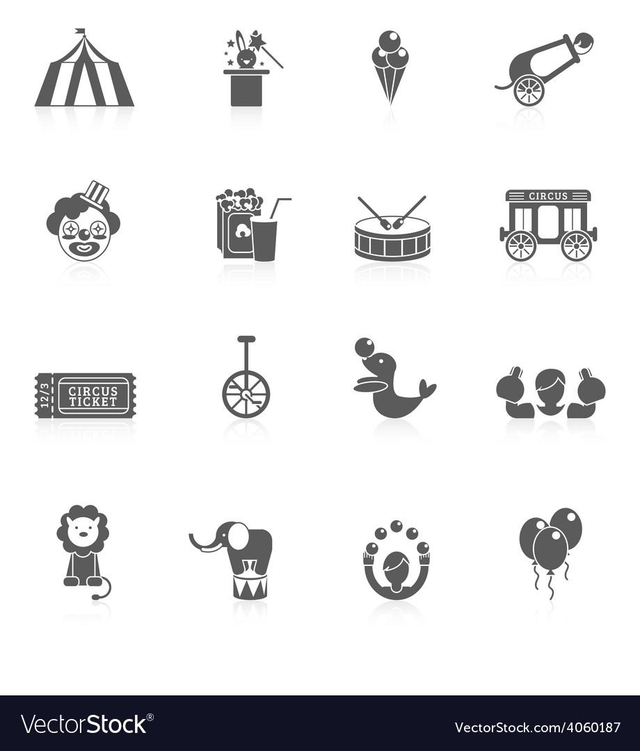 Circus icon black vector | Price: 1 Credit (USD $1)