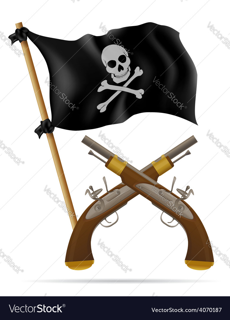 Pirate flag and pistols vector | Price: 3 Credit (USD $3)