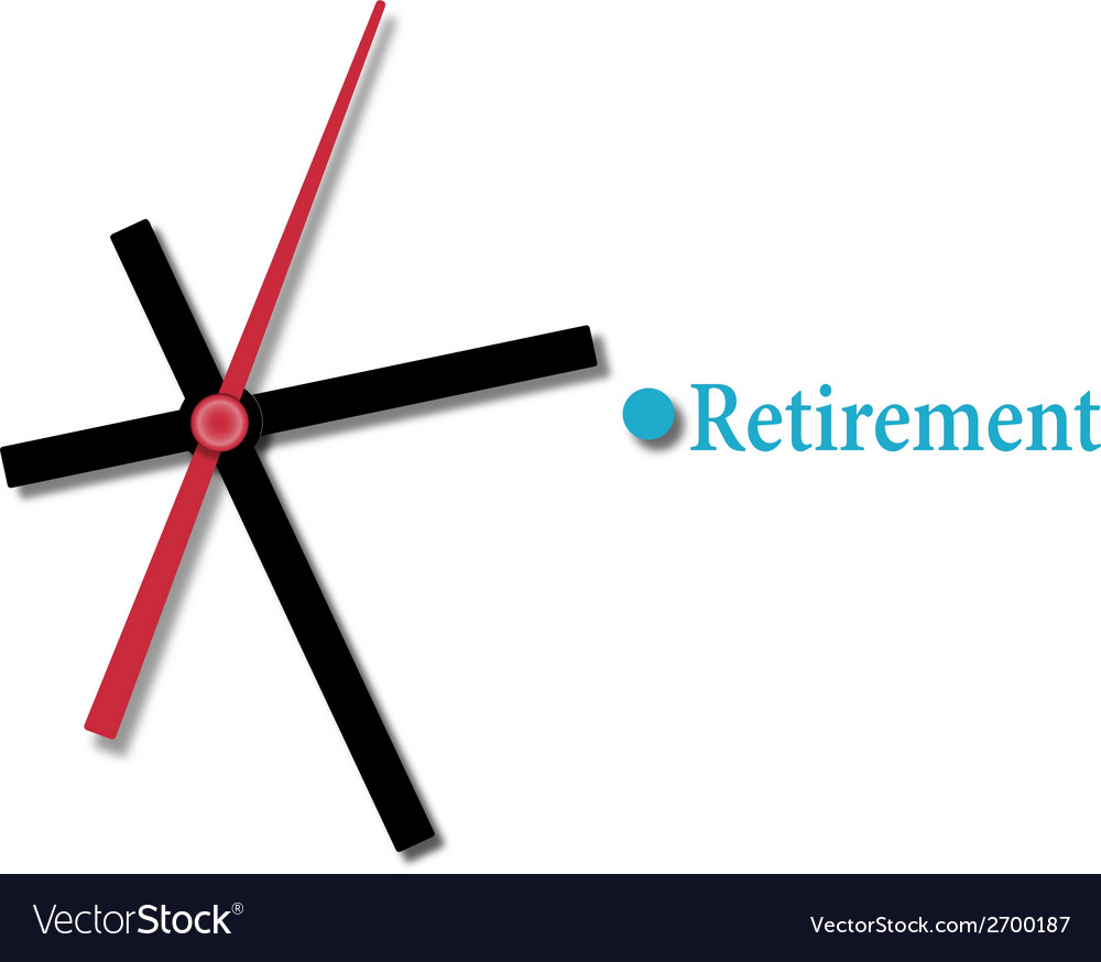 Retirement financial planning time vector | Price: 1 Credit (USD $1)