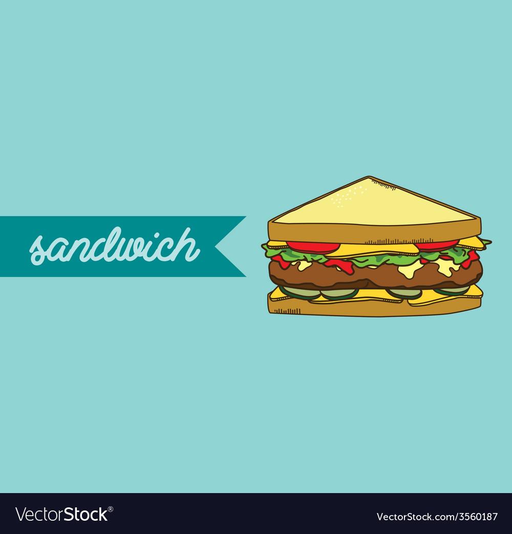 Sandwich vector | Price: 1 Credit (USD $1)
