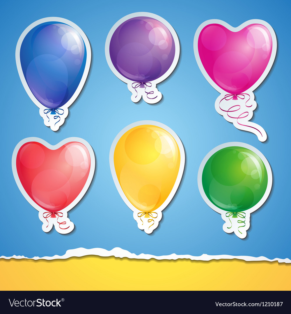 Set of balloons vector | Price: 1 Credit (USD $1)