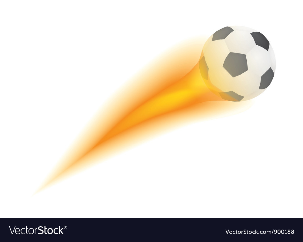 Ball with flame vector | Price: 1 Credit (USD $1)