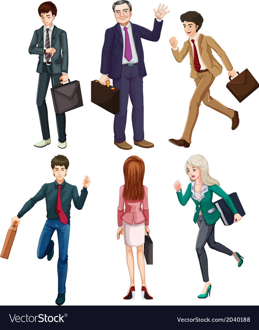 Business-minded people vector | Price: 3 Credit (USD $3)