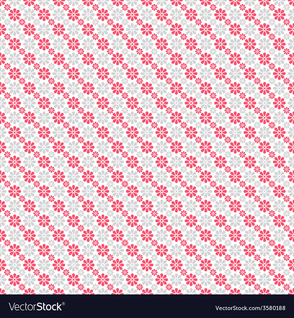 Chic seamless pattern pink white vector | Price: 1 Credit (USD $1)