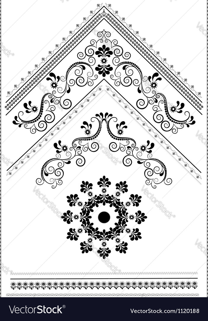 Decorative corner with an ornament for the page vector | Price: 1 Credit (USD $1)