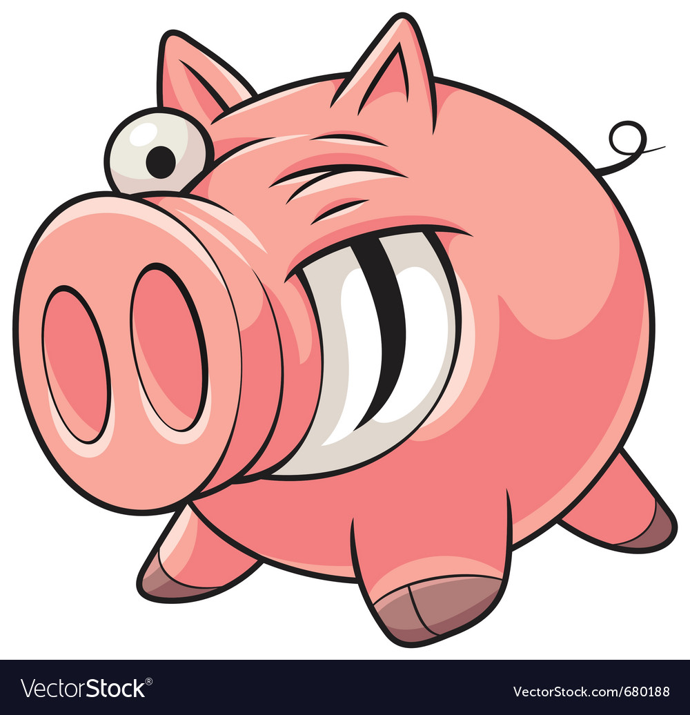 Fat pig vector | Price: 3 Credit (USD $3)